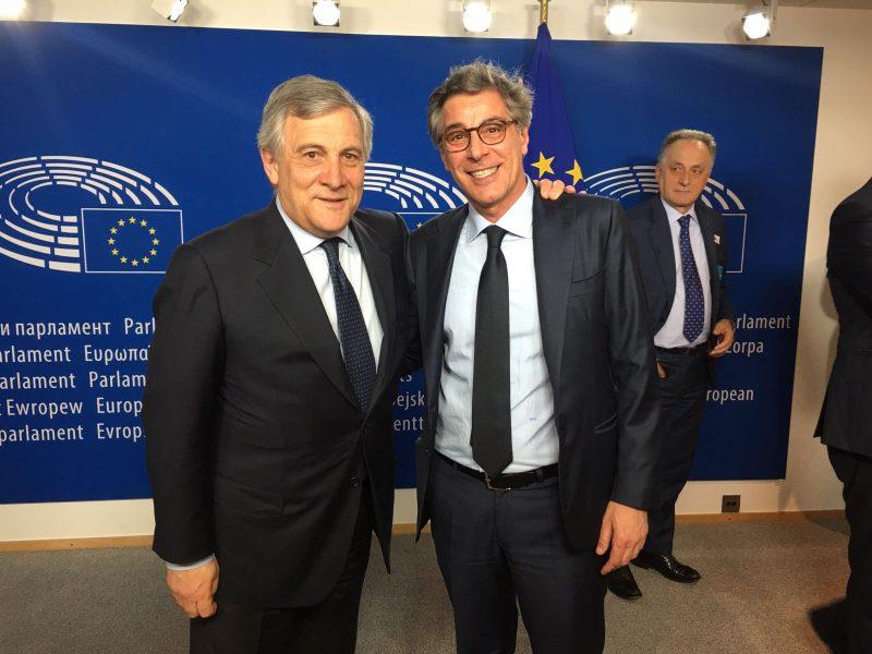 Mauro Natale a Bruxelles per parlare di Industria 4.0 con il Presidente Tajani