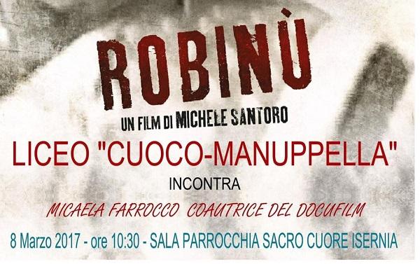 """Robinù, gli studenti del """"Cuoco-Manuppella"""" incontrano la coautrice Micaela Farrocco"""