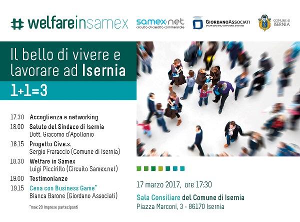 ECONOMIA – #welfareinsamex, presentazione a Isernia