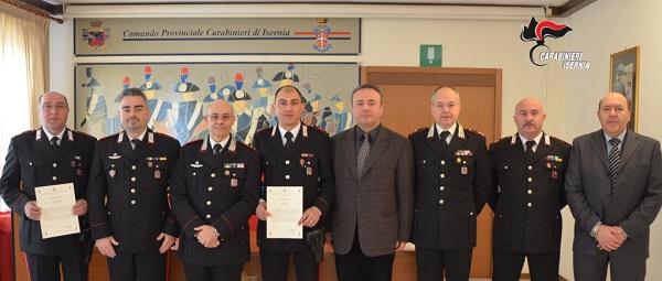 Emergenza neve e arresto pregiudicati, premiati cinque Carabinieri