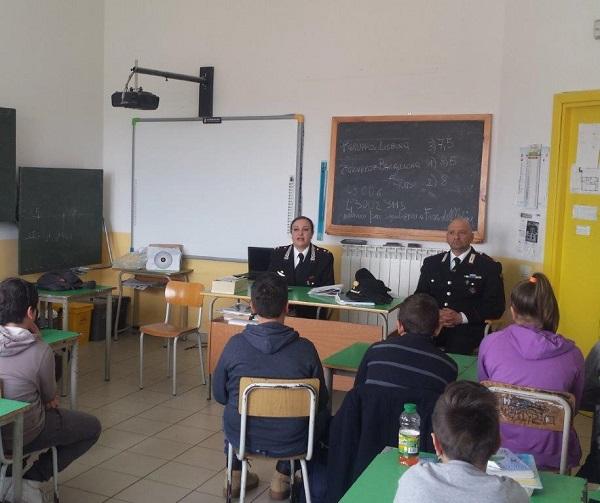 Cultura della legalità, Carabinieri in cattedra a Jelsi