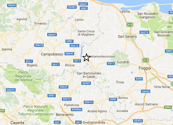 Due scosse di terremoto sul confine molisano