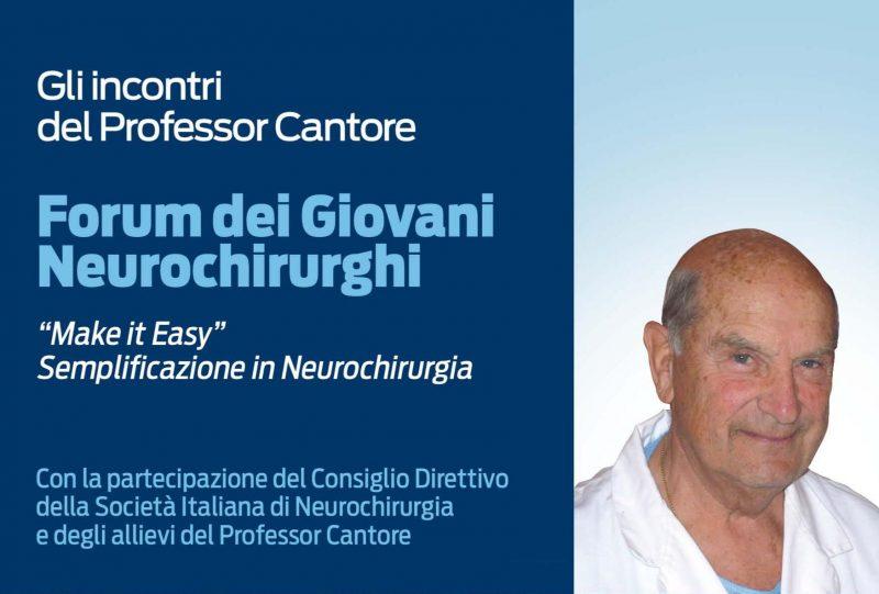 SALUTE – Forum di neurochirurgia in ricordo del prof. Cantore