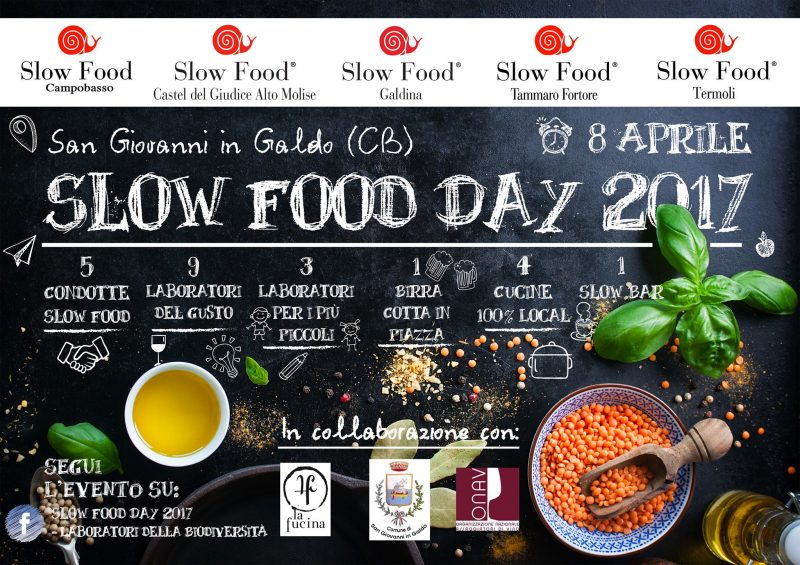 EVENTI – Slow Food Day 2017, cucine aperte a San Giovanni in Galdo