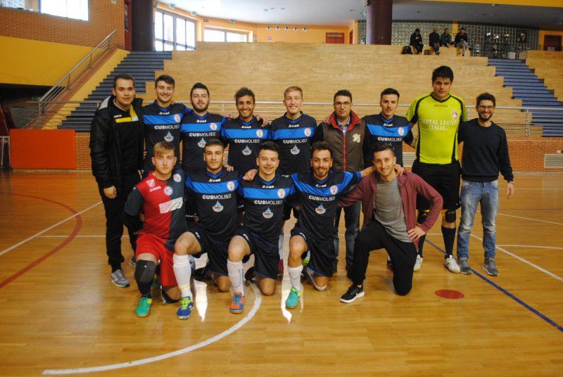 Calcio a 5, Cnu: il Cus Molise supera il Napoli 9-6