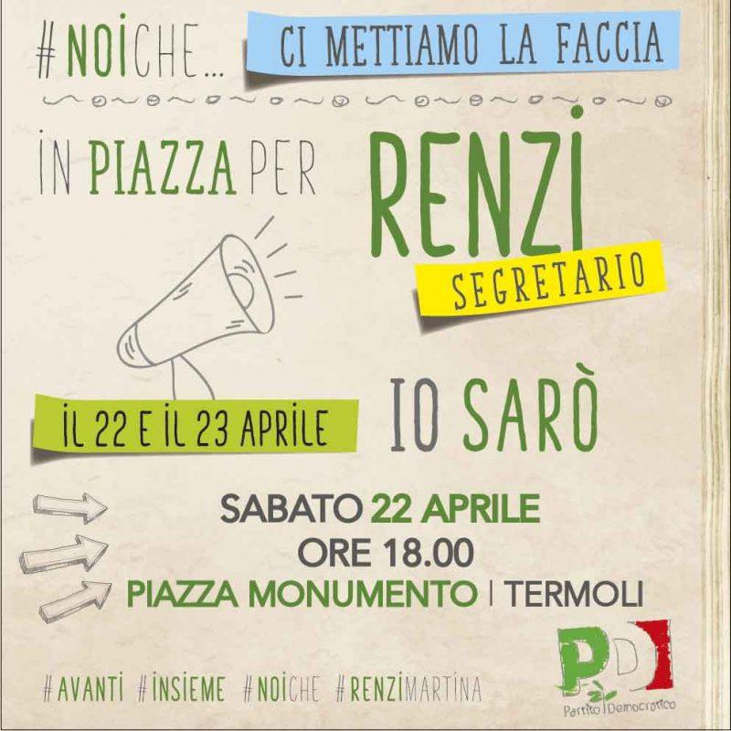 Mozione Renzi-Martina, banchetto informativo a Termoli