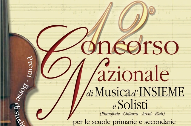 12° Concorso Nazionale di Musica d'insieme e Solisti al Montini