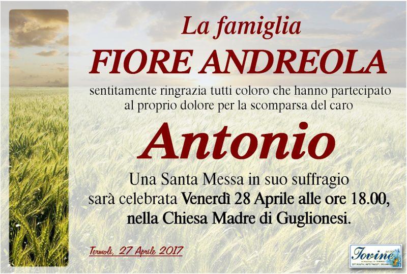 Ringraziamento Famiglia Fiore Andreola – Termoli