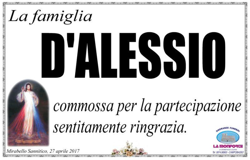 Ringraziamento Famiglia D'Alessio – Mirabello Sannitico