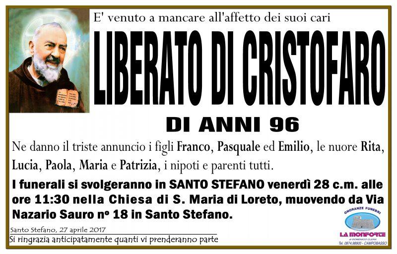 Liberato Di Cristofaro – 27/04/2017 – Santo Stefano