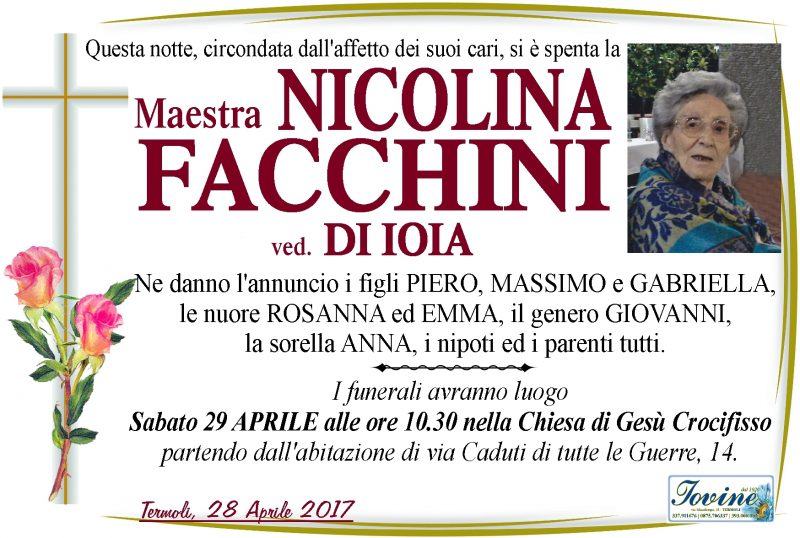 Nicolina Facchini – 28/04/2017 – Termoli