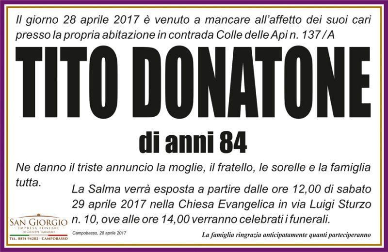 Tito Donatone – 28/04/2017 – Campobasso