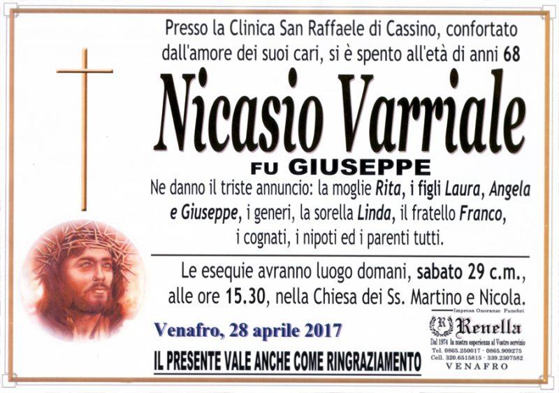 Nicasio Varriale – 28/04/2017 – Venafro