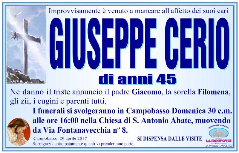 Giuseppe Cerio – 29/04/2017 – Campobasso