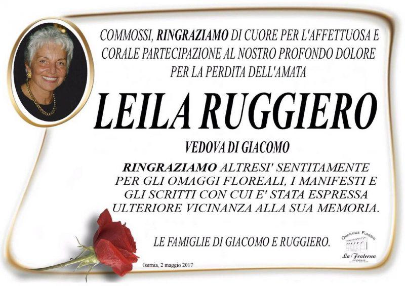 Ringraziamento famiglie Di Giacomo/Ruggiero – Isernia