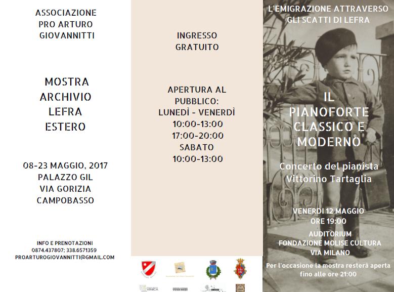 12 maggio concerto di Vittorino Tartaglia