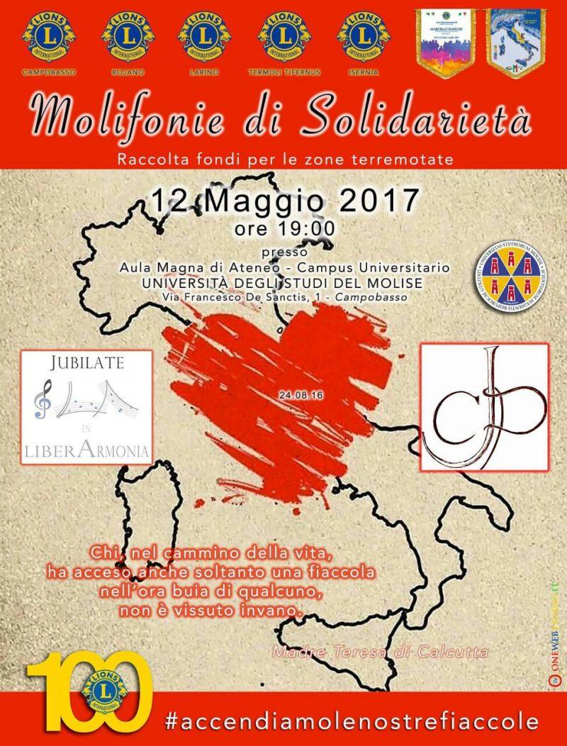 """""""Molifonie di Solidarietà"""", evento benefico dei Lions"""