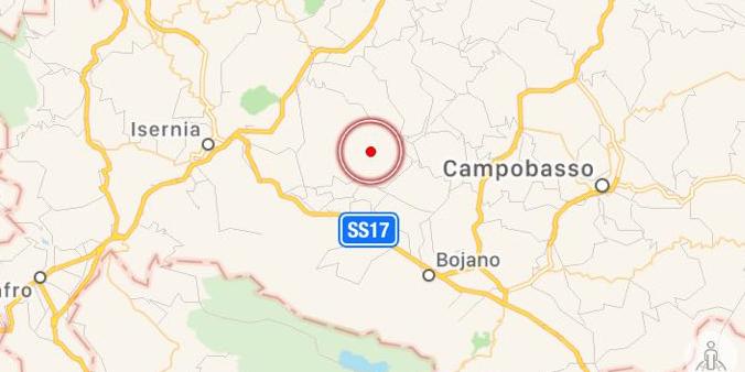 Scossa di terremoto 2.6 in provincia di Isernia