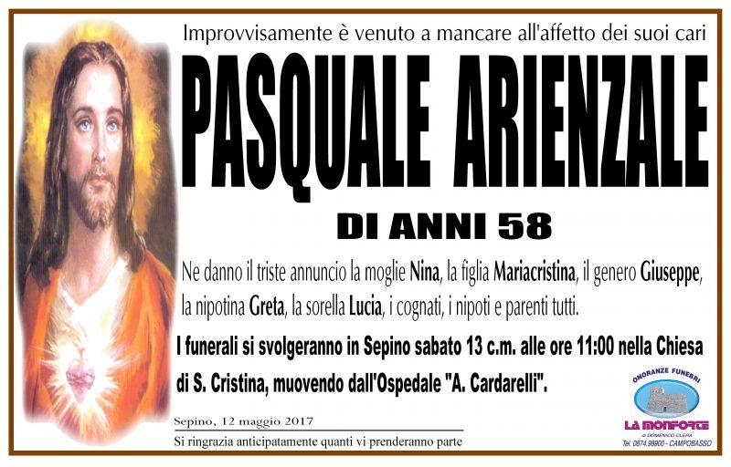 Pasquale Arienzale – 12/05/2017 – Sepino – Onoranze Funebri La Monforte