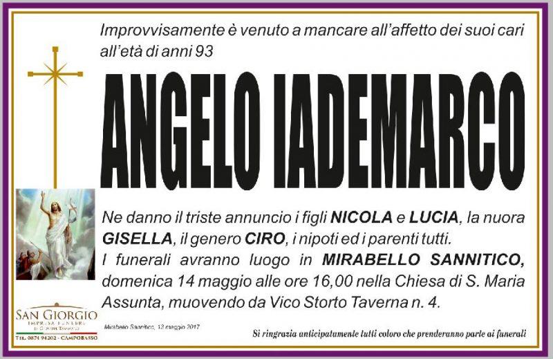 Angelo Iademarco, 13/05/2017, Mirabello Sannitico – Impresa funebre San Giorgio