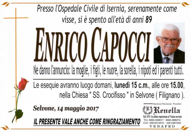 Enrico Capocci, 14/05/2017, Selvone (Filignano) – Onoranze funebri Renella