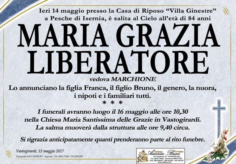 Maria Grazia Liberatore – 15/05/2017 – Vastogirardi – Impresa Funebre Americo Bucci
