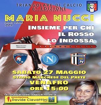 INIZIATIVE – Memorial Maria Nucci, sabato 27 maggio allo stadio di Venafro