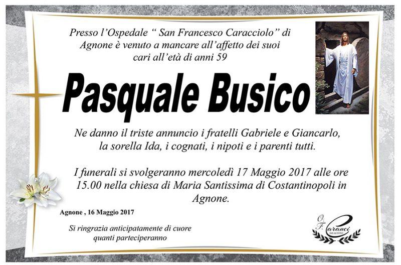 Pasquale Busico – 16/05/2017 – Agnone – Onoranze funebri Caranci