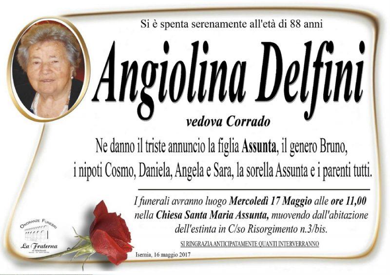 Angiolina Delfini – 16/05/2017 – Isernia – Onoranze funebri La Fraterna