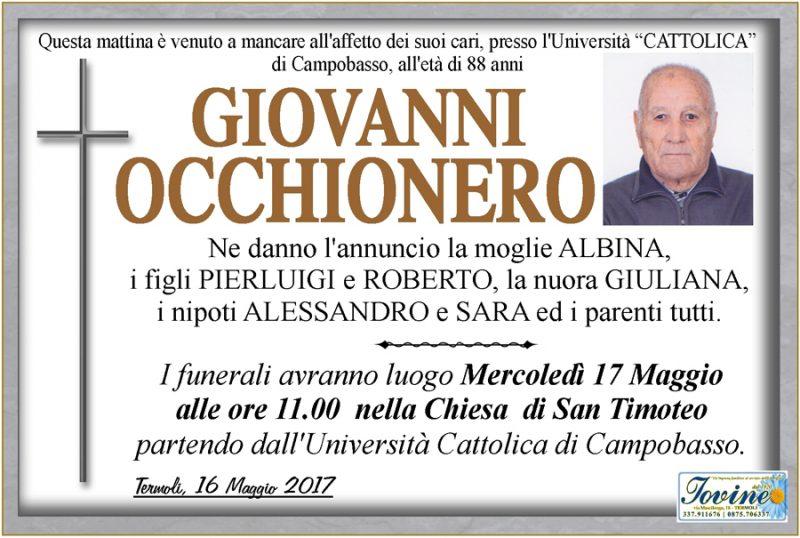 Giovanni Occhionero – 16/05/2017 – Termoli – Onoranze funebri Iovine