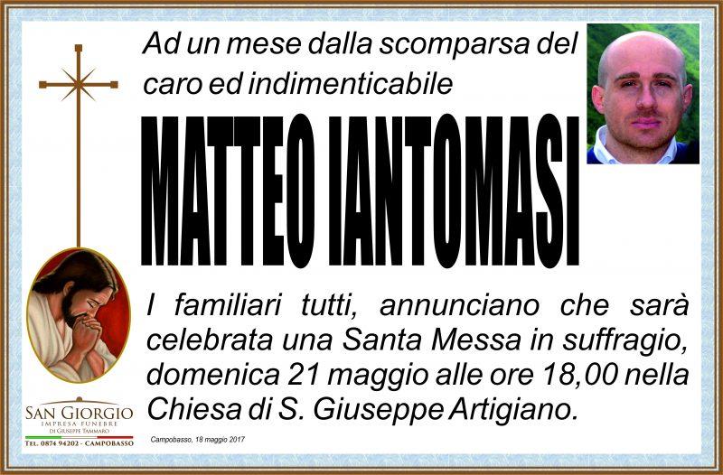 Trigesimo Matteo Iantomasi – Campobasso