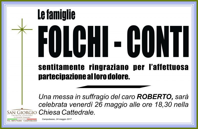 Ringraziamento Famiglie Folchi – Conti, Campobasso