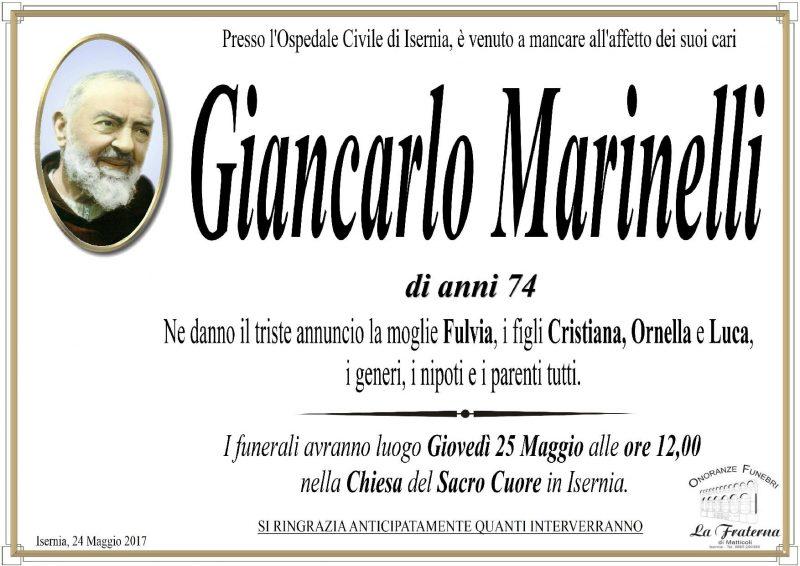Giancarlo Marinelli – 24/05/2017 – Isernia – Onoranze Funebri La Fraterna