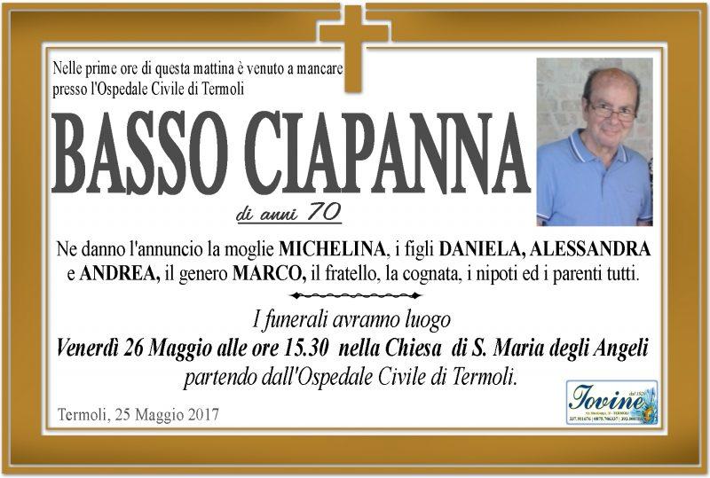 Basso Ciapanna – 25/05/2017 – Termoli – Onoranze Funebri Jovine