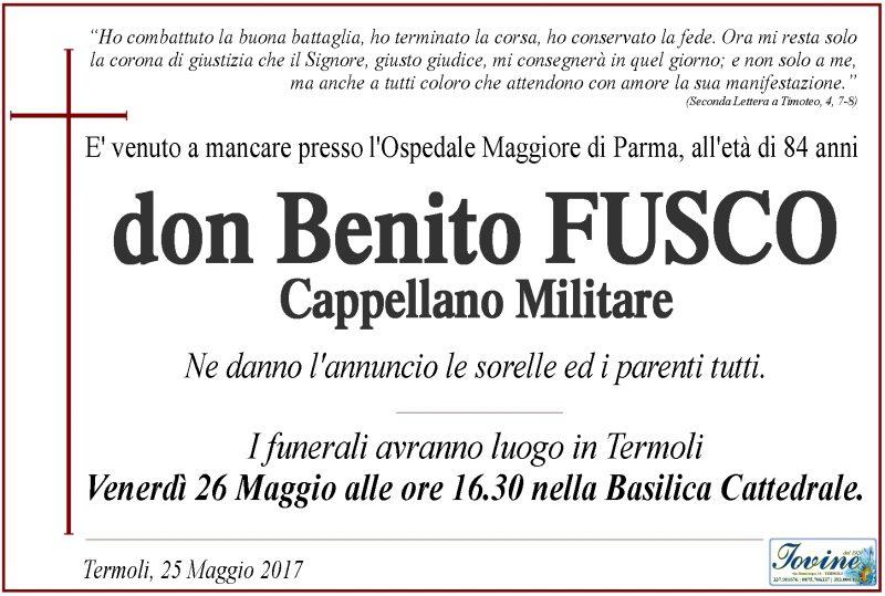 Don Benito Fusco – 25/05/2017 – Termoli – Onoranze Funebri Jovine