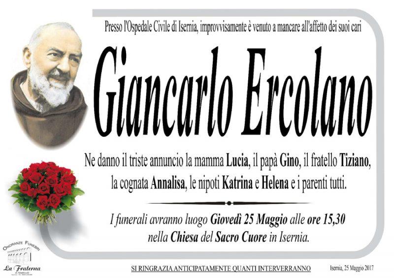 Giancarlo Ercolano – 25/05/2017 – Isernia – Onoranze funebri La Fraterna