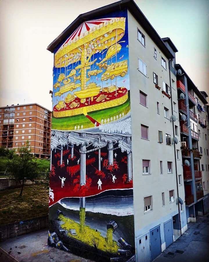 Opera d'arte in via Liguria, manca solo la firma…