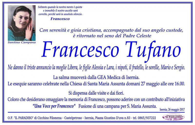 Francesco Tufano – 26/05/2017 – Isernia – Onoranze funebri Il Paradiso