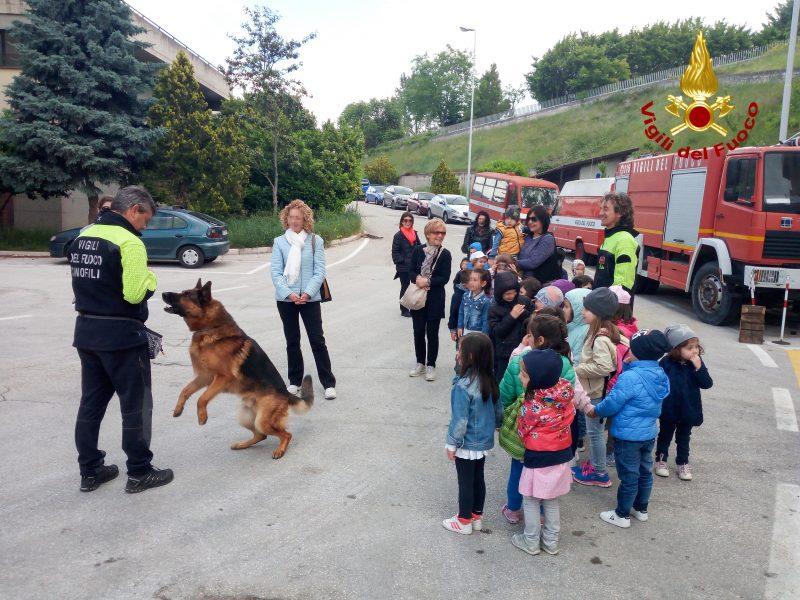 Lezione speciale per gli alunni della primaria: giocano a fare i vigili del fuoco
