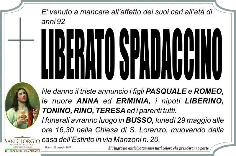 Liberato Spadaccino – 28/05/2017 – Busso – Impresa Funebre San Giorgio