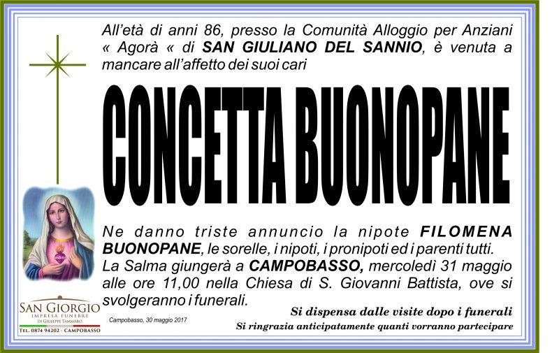 Concetta Buonopane – 30/05/2017 – Campobasso – Impresa Funebre San Giorgio