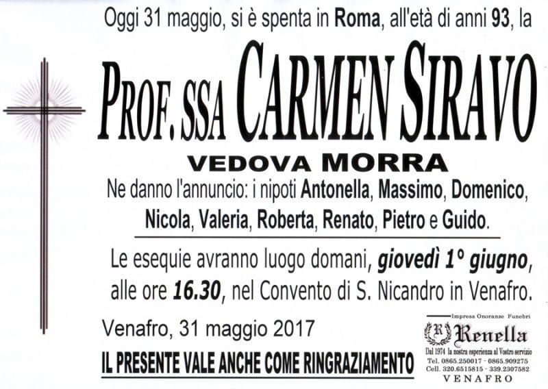 Carmen Siravo – 31/05/2017 – Venafro – Onoranze funebri Renella