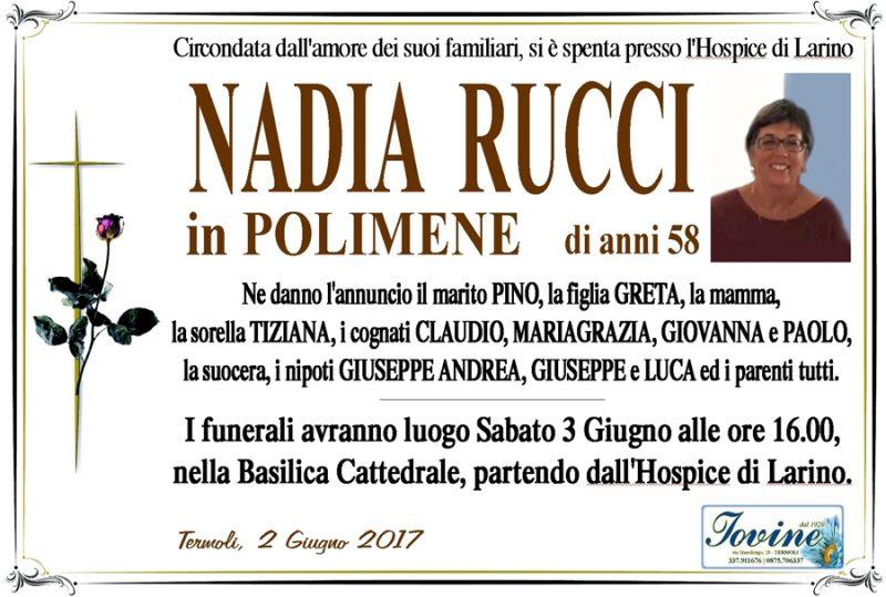 Nadia Rucci – 02/06/2017 – Termoli – Onoranze funebri Iovine