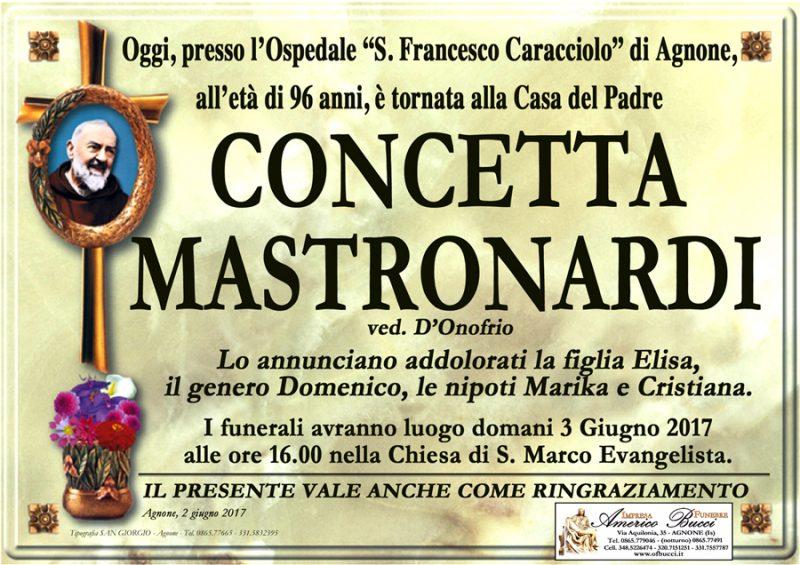 Concetta Mastronardi – 02/06/2017 – Agnone – Impresa funebre Americo Bucci
