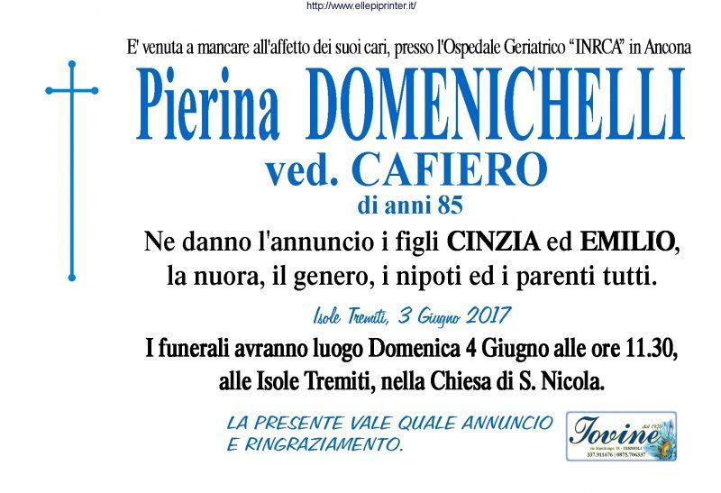 Pierina Domenichelli – 3/06/2017 – Isole Tremiti – Onoranze Funebri Iovine