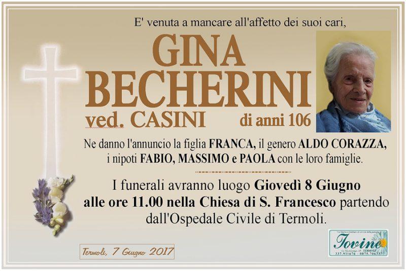 Gina Becherini – 07/06/2017 – Termoli – Onoranze funebri Iovine