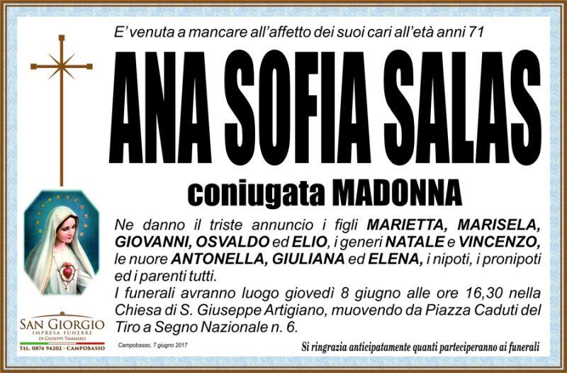 Ana Sofia Salas – 07/06/2017 – Campobasso – Impresa funebre San Giorgio