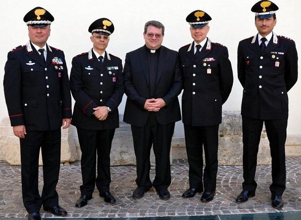 I vertici dell'Arma incontrano Mons. Claudio Palumbo