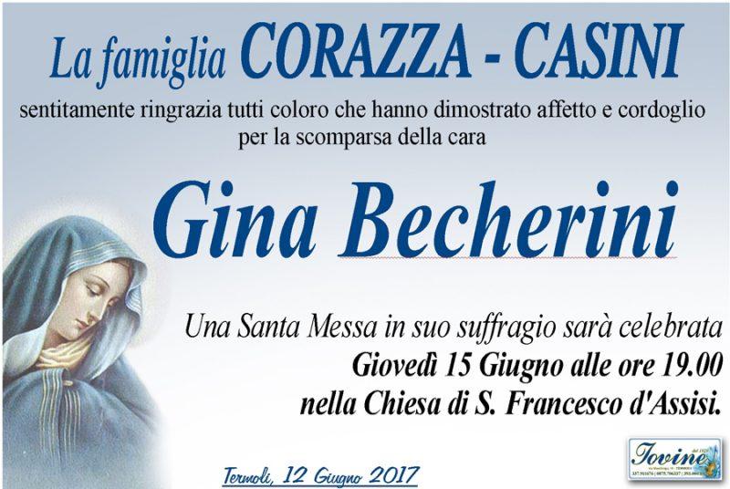 Ringraziamento Famiglia Corazza-Casini – Termoli