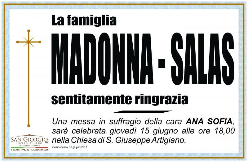 Ringraziamento Famiglia Madonna – Salas, Campobasso